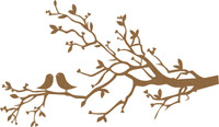 Love Birds - Chipboard Embellishment