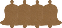 Bell - Small 4 Pack - Chipboard Embellishment