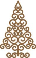 NEW  Swirl Christmas Tree Small - Chipboard Embellishment