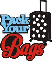 Pack Your Bags - Laser Die Cut