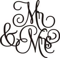 Mr & Mrs. - Laser Die Cut