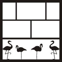 Flamingo's- 12 x 12 Scrapbook OL