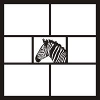 Zebra Small - 12 x 12 Scrapbook OL