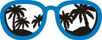 Sunglasses & Palm Trees - Laser Die Cut