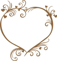 Heart Elegance Frame - Chipboard Embellishment