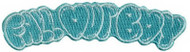 Fall Out Boy Iron-On Patch Turquoise Logo