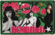 Bettie Page Iron-On Patch Bombshell Logo