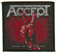 Accept Sew On Patch Blood Of The Nations Peace Logo