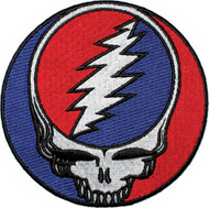 Grateful Dead Iron-On Back Patch Large Steal Your Face Logo