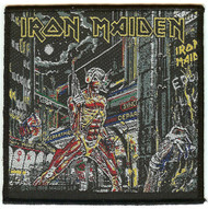 Iron Maiden Sew On Patch Somewhere In Time Logo