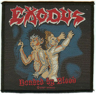 Exodus Sew On Patch Bonded By Blood Logo