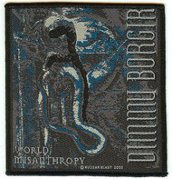 Dimmu Borgir Sew On Patch World Misanthropy Logo