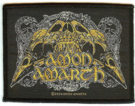 Amon Amarth Sew On Patch Raven Skull Logo