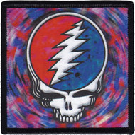 Grateful Dead Iron-On Patch Steal Your Face Spin