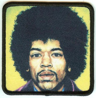 Jimi Hendrix Iron-On Patch Color Portrait