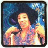 Jimi Hendrix Iron-On Patch Style