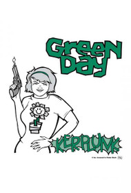 Green Day Poster Flag Kerplunk Logo Tapestry