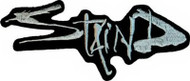 Staind Iron-On Patch Silver Letters Logo