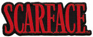 Scarface Iron-On Patch Red Letters Logo