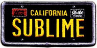 Sublime Iron-On Patch California License Plate Logo