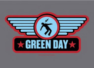 Green Day Poster Flag Wings Blue Logo Tapestry