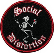 Social Distortion Iron-On Patch Skelly Circle Logo