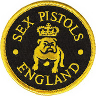 Sex Pistols Iron-On Patch Bulldog England Logo