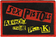 Sex Pistols Iron-On Patch Anarchy In The Pre-K Logo