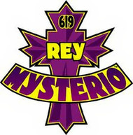 Rey Mysterio Iron-On Patch 619 Logo WWE Wrestling