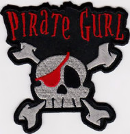 Pirate Gurl Iron-On Patch Skull Crossbones Logo
