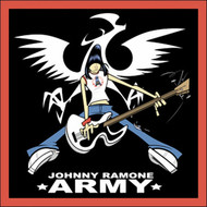 The Ramones Iron-On Patch Johnny Ramone Army Guitar Pose Logo