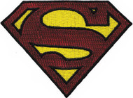 Superman Iron-On Patch Glitter Shield Logo