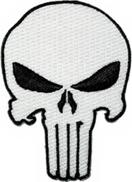 The Punisher Iron-On Patch White Skull Logo