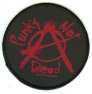 Punk's Not Dead Sew On Patch Circle Logo