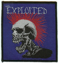 The Exploited Sew On Patch Skull Logo