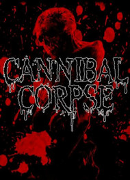 Cannibal Corpse Poster Flag Red Skull Logo Tapestry