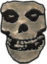 Misfits Iron-On Back Patch Large Chrome Skull
