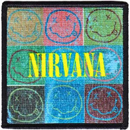 Nirvana Iron-On Patch Smiley Face Collage Logo