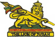 Rasta Iron-On Patch Lion Of Judah