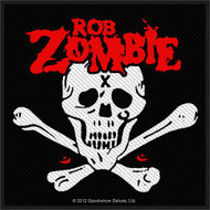 Rob Zombie Sew On Patch Skull And Crossbones Logo