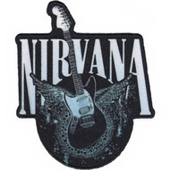 Nirvana Iron-On Patch Guitar Logo