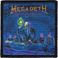 Megadeth Iron-On Patch Square Rust In Peace Logo