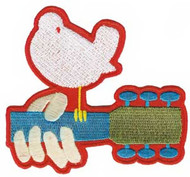 Woodstock Iron-On Patch Dove Guitar Logo