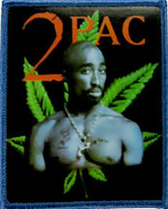Tupac Shakur Iron-On Patch 2Pac Leaf Logo