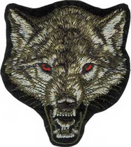 Wolf Head Iron-On Patch