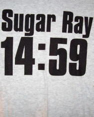 Sugar Ray T-Shirt 14:59 Logo Gray Size Large