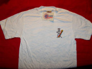 Grateful Dead T-Shirt Surfing Skeleton White Size Small