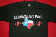 Drowning Pool T-Shirt Texas Redneck And Evil Black Size Medium