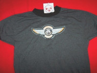 Grateful Dead Ringer T-Shirt Wings Logo Gray Size Youth Large