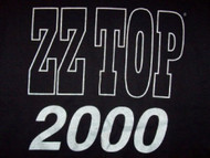 ZZ Top T-Shirt Millenium 2000 Concert Black Size Large